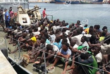 إنقاذ 128 مهاجر غير قانوني