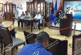 القوات البحرية الليبية تعقد مؤتمراً صحفياً