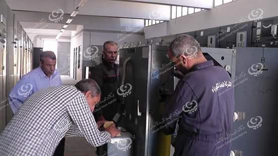 Photo of صيانة دورية لمحطة 11 كيلوفولت برقدالين