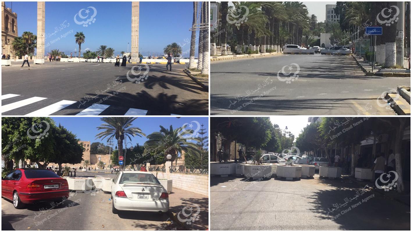غلق الطرق المؤدية لميدان الشهداء أمام حركة المركبات