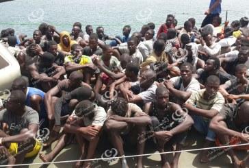 إنقاذ (1047) مهاجر غرب طرابلس
