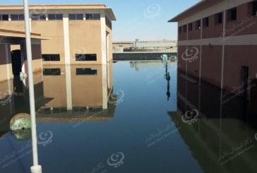 طفح مياه الصرف الصحي لمحطة المعالجة بسبها