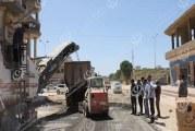 عميد بلدية المرج يتفقد سير العمل بأعمال الطرق بالبلدية