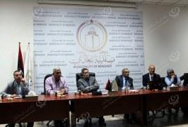اجتماع بلدي بنغازي مع وفد استشاري إماراتي في مجال المعمار والمقاولات بمقر البلدية