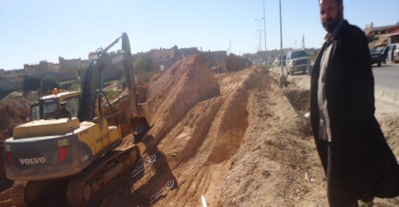 Photo of صيانة هبوط كبير في طريق المغاربة جنوب غريان