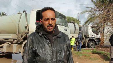 Photo of مستنقعات مياه الأمطار معاناة متكررة لمدخل طرابلس الشرقي