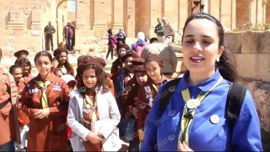 Photo of فوج كشاف ومرشدات حي الأندلس يزور مدينة صبراتة الأثرية