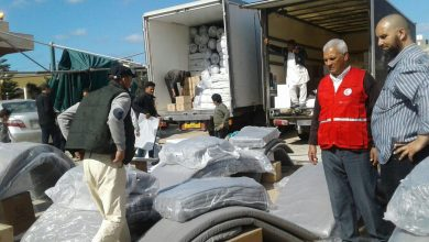 Photo of الهلال الأحمر طرابلس يقدم مواد غذائية لعائلات نازحة