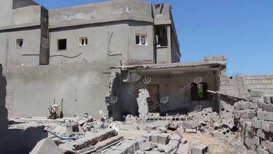 Photo of إصابة منازل سكنية بقذائف سقطت على مشروع الهضبة