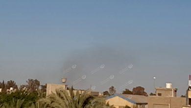 Photo of تصاعد أعمدة دخان  في محيط طريق المطار ومشروع الهضبة جنوب طرابلس