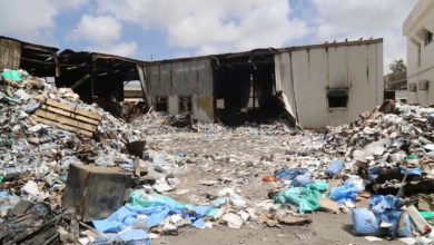 Photo of تلف كامل محتويات مخزن الأدوية بمصحة النفط الذي احترق بقاذف عشوائي