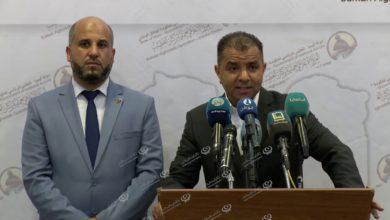 Photo of مؤتمر صحفي لوكيل وزارة المواصلات والناطق باسم وزارة الصحة في حكومة الوفاق
