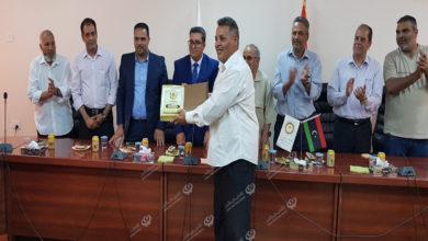 Photo of جامعة اجدابيا تكرم طاقم عمل مسلسل (شط الحرية)