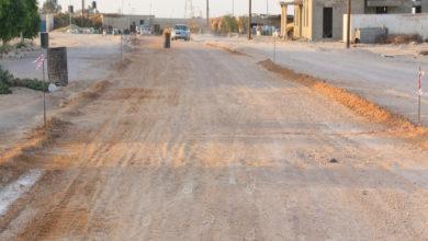 Photo of البدء في تجهيز رصف الطريق بحي أبوعطاف أوجلة