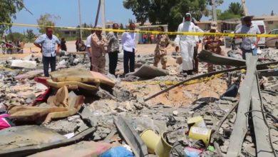 Photo of تواصل عمليات انتشال أشلاء المهاجرين الذين قضو جراء القصف