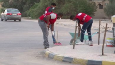 Photo of الهلال الأحمر يطلق حملة نظافة تحت شعار(جالو في قلوبنا)