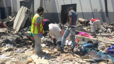 Photo of تواصل انتشال أشلاء قتلى مركز إيواء المهاجرين بتاجوراء