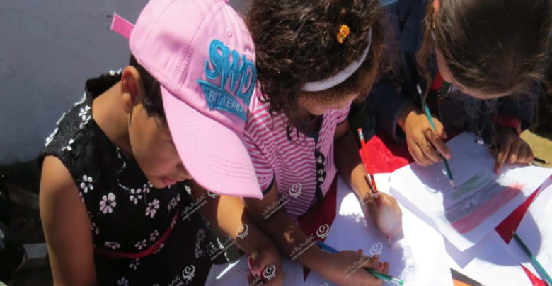 Photo of حفلة ترفيهية للأطفال النازحين في بلدية الزاوية