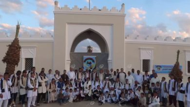 Photo of اللجنة الوطنية للعمل التطوعي جالو تنظم حفل معايدة جماعية لشباب الواحات