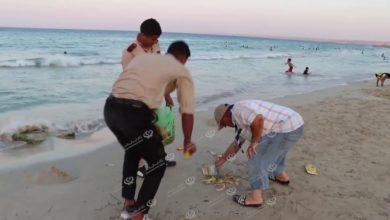 Photo of حملة لنظافة شاطئ مصيف (الليدو) بطبرق