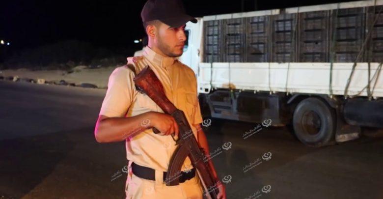 Photo of دوريات أمنية مكثفة علي المدخل الغربي لمدينة توكرة