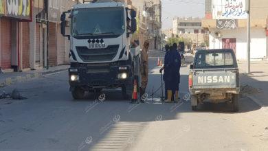 Photo of حملة لصيانة خطوط تصريف مياه الأمطار بمدينة اجدابيا