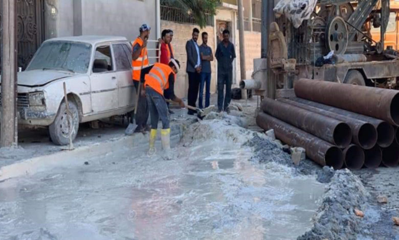 Photo of حفر سبعة آبار لتصريف مياه الأمطار في اجدابيا