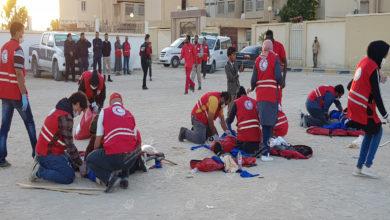 Photo of محاكاة تدريبية لمتطوعي الهلال الأحمر فرع اجدابيا