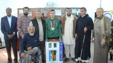 Photo of حفل تكريم للرياضي المتحصل على فضية  بطولة أفريقيا في العاب القوة البدنية لفئة ذوي الاحتياجات الخاصة