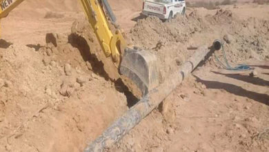 Photo of الانتهاء من صيانة خط المياه الرئيس في القرية الشرقية