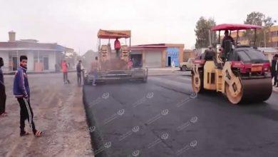 Photo of نسبة إنجاز أعمال صيانة طريق الدفاع المدني ببلدية بني وليد تتجاوز (90%)