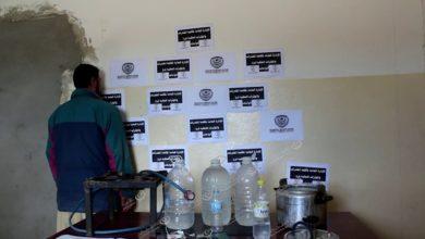 Photo of مكتب مكافحة المخدرات بالواحات يضبط أكثر من 200 لتر خمور محلية في جالو