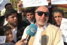Photo of احتجاج على إقامة مكب للقمامة بمقر (معسكر السابع من أبريل)
