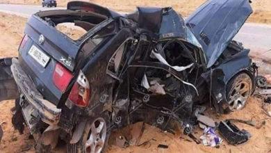 Photo of حادث سير أليم جنوب مزدة يؤدي إلى وفاة (5) اشخاص