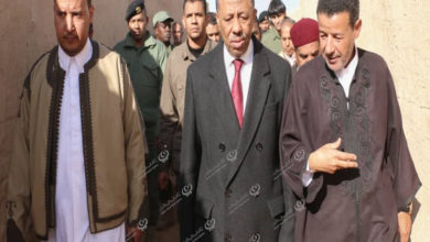 Photo of رئيس الحكومة الليبية والوفد المرافق له يزور بلدية أوجلة