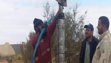 Photo of تركيب مضخة لبئر الخرماني في بني وليد