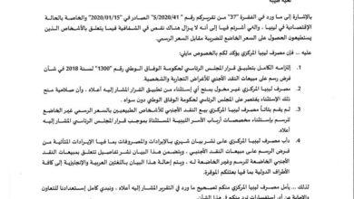 Photo of (محافظ مصرف ليبيا المركزي) يأمل من الأمين العام للأمم المتحدة تصحيح تقريره