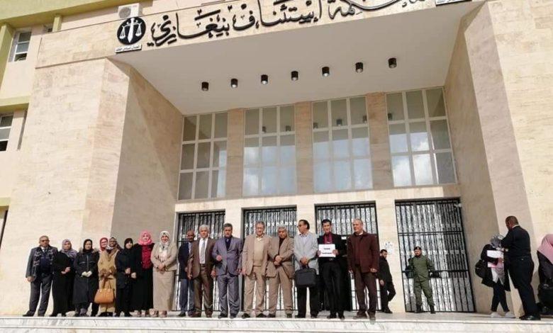Photo of وقفة احتجاجية موحدة لأعضاء السلك القضائي في عدة مدن ليبية