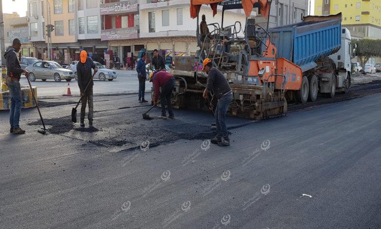Photo of استكمال رصف شارعي الإمام سحنون وطرابلس باجدابيا