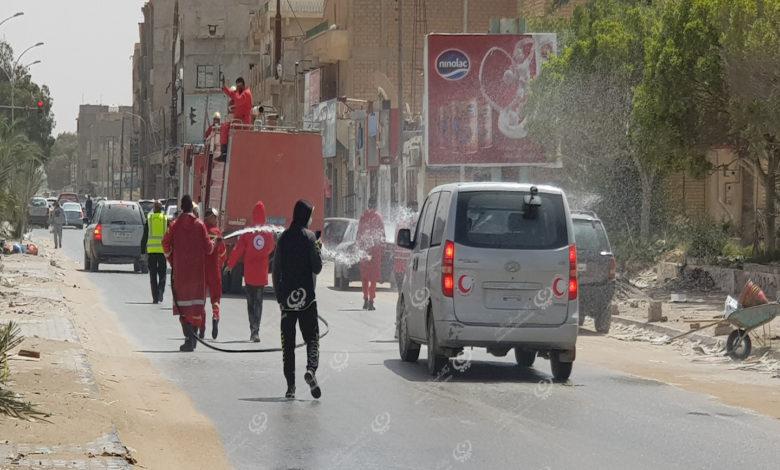 Photo of تعقيم عدد من الشوارع والساحات والميادين باجدابيا