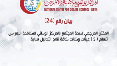 Photo of بيان المركز الوطني لمكافحة الأمراض (24) حول مستجدات فيروس كورونا المستجد
