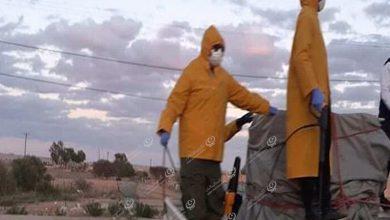 Photo of استمرار حملة تعقيم الشوارع والميادين التطوعية في بلدية مزدة