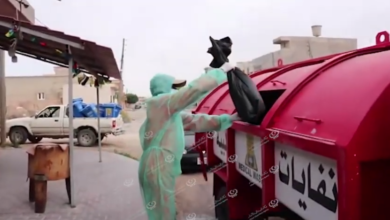 Photo of توزيع سلات خاصة بالنفايات الصحية داخل بلدية زوارة