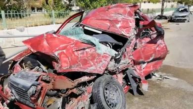 Photo of وفاة سائقين في حادث مروري مروع أمام مستشفى طرابلس الجامعي نتيجة السرعة