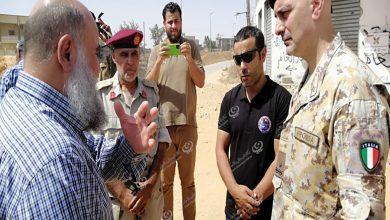 Photo of وفد عسكري إيطالي يقوم بزيارة ميدانية لمنطقة عين زارة