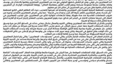 Photo of بيان لمنظمات حقوقية ليبية بشأن حادث القتل الجماعي لمهاجرين وطالبي لجوء في مزده