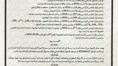 Photo of المجلس الرئاسي لحكومة الوفاق الوطني يمدد العمل بقرار حظر التجول