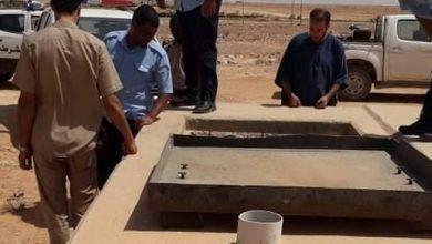 Photo of قوة من مديرية الأمن ببني وليد تقوم بقفل صمام النهر الصناعي المغذي للمدينة