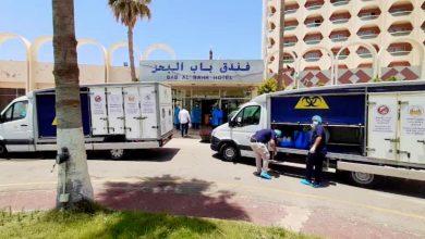 Photo of فِرق الطوارئ الصحيّة تشرف على إجراءات الحجر الصحي للمواطنين العائدين من مصر