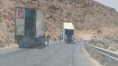Photo of حادث في منحدر البطمة مقابل مدينة مزدة